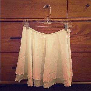 Silence and noise white flowy skirt